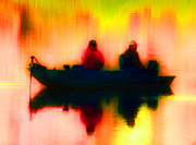 Bass Digital Art Prints - Fishing Print by Jan Bonner