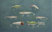 Lures Prints - Fishing Lures Print by Kathy Montgomery
