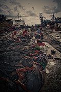 Community Service Prints - Fishing net Print by Earl Joseph Saavedra