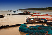 Fishing Photo Originals - Fishing Net by Mukesh Srivastava