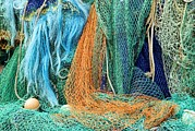 Trawler Metal Prints - Fishing Nets Metal Print by Adrian Bicker