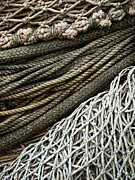 Ropes Photo Prints - Fishing Nets Print by Carol Leigh
