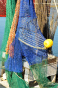 Apalachicola Prints - Fishing Nets Print by Jan Amiss Photography