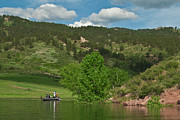 Horsetooth Metal Prints - Fishing on Horsetooth Reservoir Metal Print by Harry Strharsky
