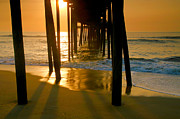 Fish Print Prints - Fishing Pier and Surf II Print by Steven Ainsworth