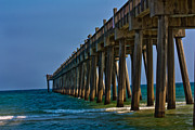 Pensacola Fishing Pier Framed Prints - Fishing Pier Framed Print by Kris Napier