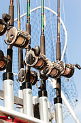 Fishing Rods Posters - Fishing Poles Poster by Karen Zucal Varnas