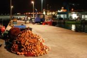 Gaspar Avila - Fishing port at night