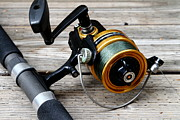 American Pastime Art - Fishing Rod and Reel . 7D13549 by Wingsdomain Art and Photography