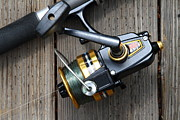 American Pastime Art - Fishing Rod and Reel . 7D13565 by Wingsdomain Art and Photography