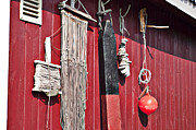 Old Fishing Gear Framed Prints - Fishing Shack Framed Print by Robert Cabrera