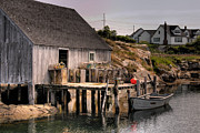 Fishing Village Posters - Fishing Shack Poster by Susan Isakson