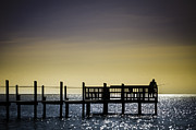 Fishing The End Of The Pier Print by Mabry Campbell