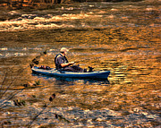 Saluda Posters - Fishing The Golden Hour Poster by Steven Richardson