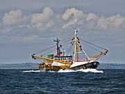 Trawler Photo Metal Prints - Fishing trawler heading out Metal Print by Gary Eason