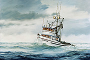 Fishing Art Print Posters - Fishing Vessel DEVOTION Poster by James Williamson