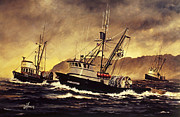 Fishing Vessel Framed Prints - Fishing Vessel HARVESTER Framed Print by James Williamson