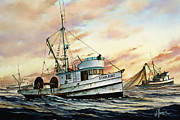 Fishing Art Print Posters - Fishing Vessel STARLIGHT Poster by James Williamson
