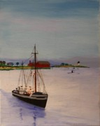 Harbor Drawings Originals - Fishing vessel Superior by Bill Hubbard