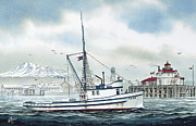 Fishing Art Print Posters - Fishing Vessel TANA Poster by James Williamson