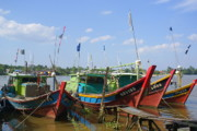 Docked Boat Originals - Fishing Vessels by Ali Mohamad