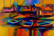 Culture Paintings - Fishing Village by Cynthia McLean