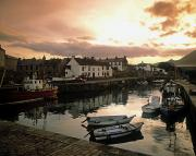 Dawns Photo Prints - Fishing Village In Ireland Print by The Irish Image Collection