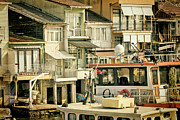 Bosphorus Prints - Fishing Village Print by Joan Carroll