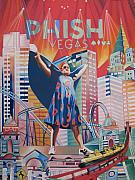Phish Prints - Fishman in Vegas Print by Joshua Morton