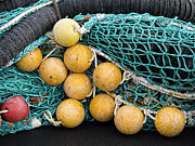 Netting Framed Prints - Fishnet Floats Framed Print by Carol Leigh