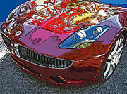 Sheats Framed Prints - Fisker Karma Hybrid Electric Car Framed Print by Samuel Sheats