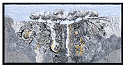 Rock Tapestries - Textiles Originals - Fissure 4 by Lorraine Roy