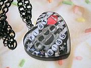 Resin Jewelry - Fist Kiss-Knuckle Duster Necklace by Razz Ace