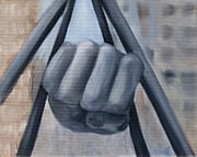 Louis Paintings - Fist of a Champion by Thea Gilliam