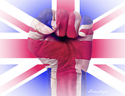 Great Britain Digital Art - Fist of Faith by Eugene James