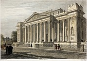 Cambridge Framed Prints - Fitzwilliam Museum Cambridge, 1841 Framed Print by Paul D Stewart