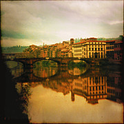 Photomanipulation Digital Art Prints - Fiume Arno Print by Li   van Saathoff
