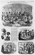 Slaves Framed Prints - Five 1869 Illustrations Of Sea Island Framed Print by Everett