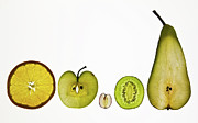 White Grape Prints - Five A Day Fruits Print by Margaret Ford