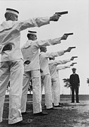 Revolvers Photos - Five Cadets At The U.s. Naval Academy by Everett