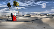Sand Dunes Digital Art Posters - Five Cent Oasis Poster by Richard Rizzo