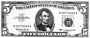 1963 Posters - Five Dollar Bill Poster by Granger