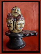 Traditional Sculpture Originals - Five Face Siva by Yogshh Agrawal