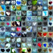 Grid Of Heart Photos Digital Art - Five Hundred Series by Boy Sees Hearts