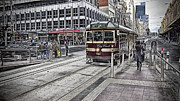 Tram Photos - Five OClock by Douglas Barnard