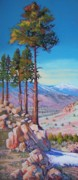 Nevada Pastels Framed Prints - Five Pines Framed Print by Bonita Paulis