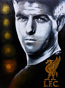 Liverpool Prints - Five Star Gerrard Print by Ramil Roscom Guerra