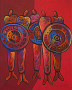 American Contemporary Western Painting Originals - Five Tribe by Lance Headlee