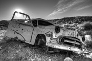 Rusted Cars Framed Prints - Fixer Upper Framed Print by Bob Christopher