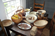 Old Houses Photos - Fixin Supper by Joy Tudor